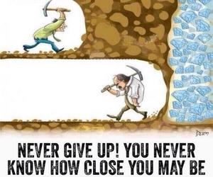 Dream, never give up, and quote image