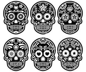 skull and day of the dead image