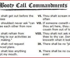 funny, booty call, and commandments image