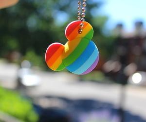 disney, mickey, and rainbow image