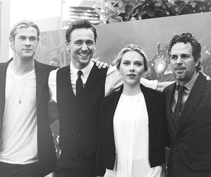 mark ruffalo, Scarlett Johansson, and the avengers image