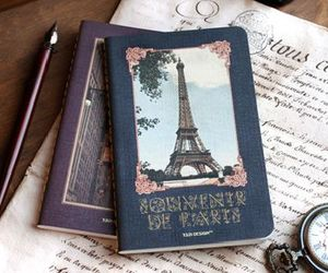 paris, vintage, and book image