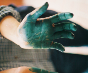 green, hands, and hipster image