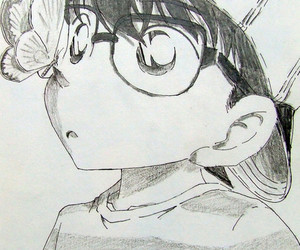 detective conan, anime, and butterfly image