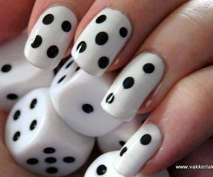black, dice, and nails image