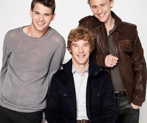 benedict cumberbatch, tom hiddleston, and jeremy irvine image