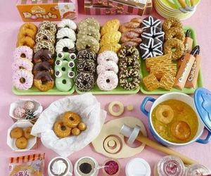 food, delicious, and donuts image