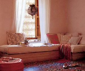 interior design, pink, and silver image