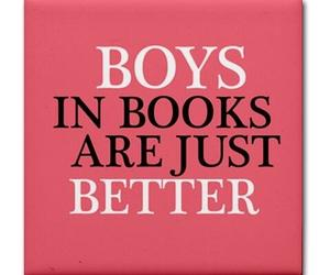 boy, book, and quote image