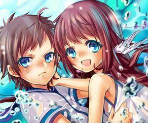 anime, manaka mukaido, and manaka x hikari image