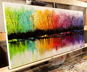 color, paint, and rainbow image