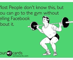 facebook, funny, and gym image