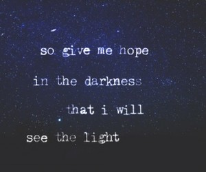 hope, quote, and light image
