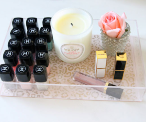 chanel, nail polish, and candle image