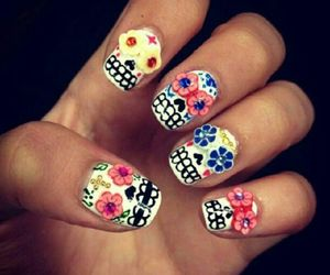 colours, nails, and fashion image
