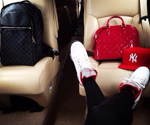 bag, jordan, and red image