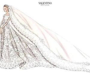 fashion, wedding dress, and haute couture image