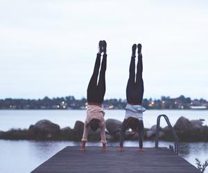 girl, friendship, and gymnastics image