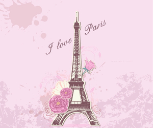 pink, rose, and france image