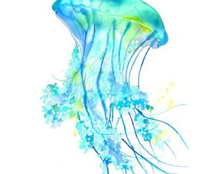 art, jellyfish, and watercolor image