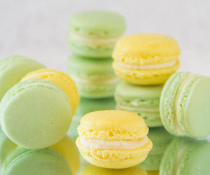 desserts, food, and macarons image