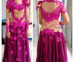 kebaya, pink, and traditional image