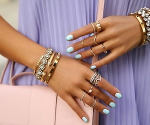 nails, fashion, and bracelet image