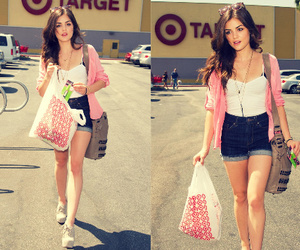 lucy hale, outfit, and summer image