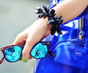 blue, bag, and glamour image
