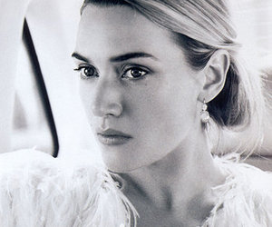kate winslet and black and white image