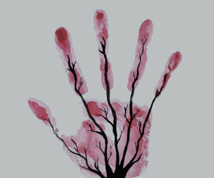 tree, hand, and art image