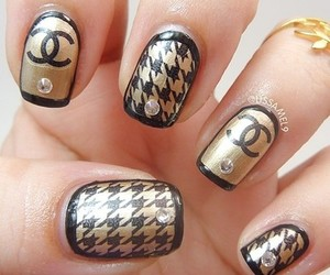 nails, chanel, and nail art image