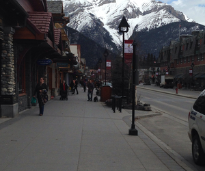 downtown, banff, and road image