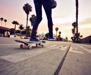 skate, skateboard, and street image