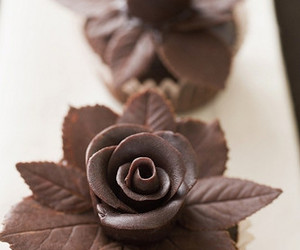 chocolate, flowers, and sweet image