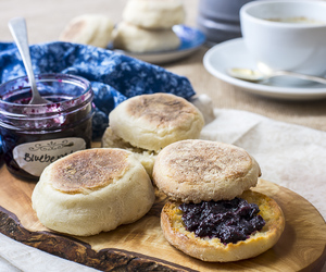 bread, english muffin, and yeast image