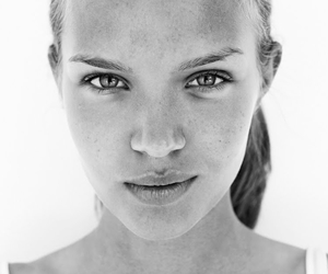 model, black and white, and josephine skriver image