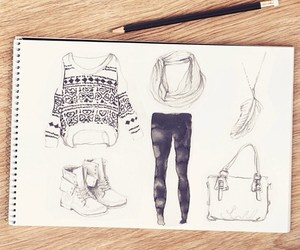 drawings, outfit, and teen image