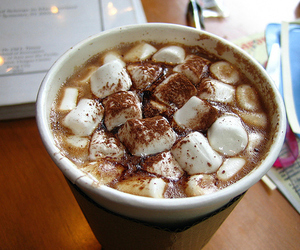 food, marshmallow, and drink image