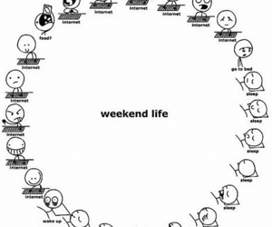 weekend, internet, and life image