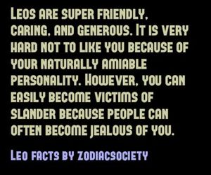Leo, quotes, and zodiac image