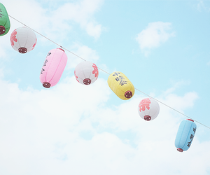 festival, sky, and japan image