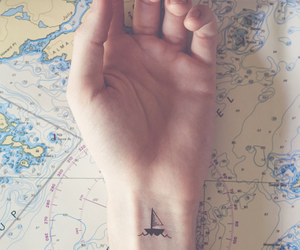 tattoo, boat, and travel image