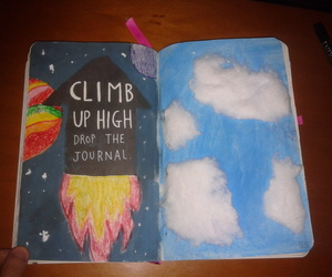 keri smith, sky, and wreck this journal image