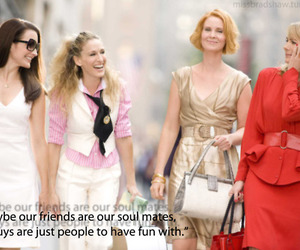 Carrie Bradshaw, satc, and bestfriend image