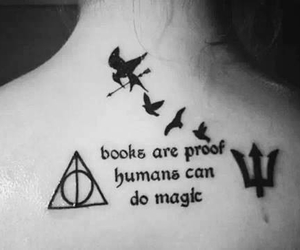 book, harry potter, and tattoo image