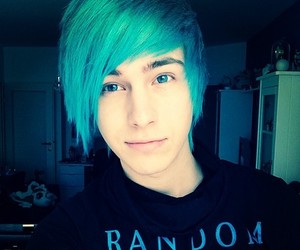 cute, blue, and emo image