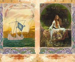 antique, lady of shalott, and old page image