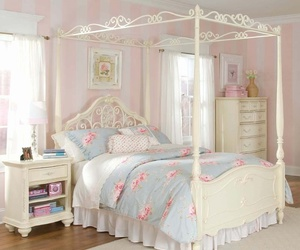 girly, bedroom, and pink image