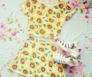 cute, fashion, and floral image